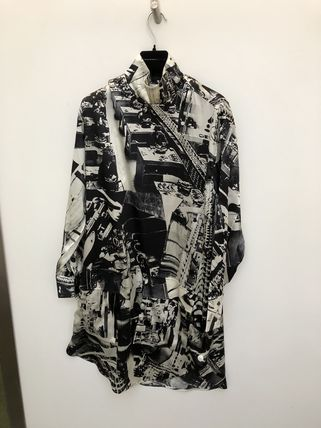 【CELINE】18SS新作  Tunic top in 'factory' printed silk