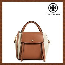 セール★Tory Burch★HALF-MOON STRAW CROSS-BODY