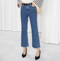 """& Other Stories""Cropped Flared Denim Jeans Blue"