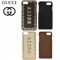 18SS GUCCI 【グッチ】Guccyプリント付き iPhone 7カバー