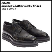 *PRADA*Brushed Leather Derby Shoes 関税/送料込