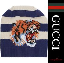 【国内発送】GUCCI ビーニー Tiger striped beanie