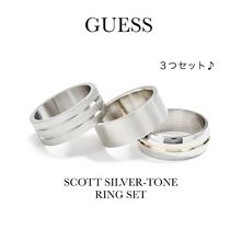 ☆GUESS☆新作♪SCOTT SILVER-TONE RING SET/3個/リング指輪*