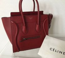 CELINE☆LuggageマイクロBordeauxレア在庫☆パリ