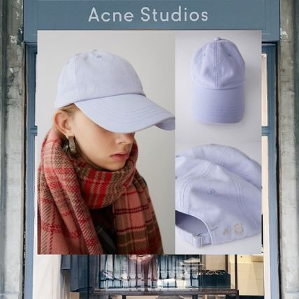 Acne キャップ 【18SS NEW】 Acne Studios_men / Carliy twill as lilac /