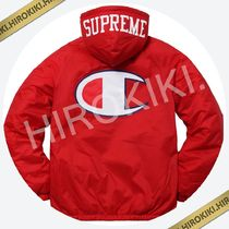 【17AW】Supreme Champion Sherpa Lined Hooded Jacket Red 赤