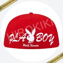 【17SS】Supreme PlayBoy Box Logo New Era Cap ニューエラ 赤