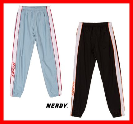 NERDY パンツ 人気【NERDY】★Line Windbreak Track Pants☆UNISEX★2色☆