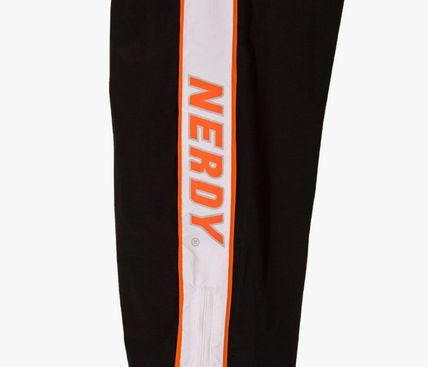 NERDY パンツ 人気【NERDY】★Line Windbreak Track Pants☆UNISEX★2色☆(9)