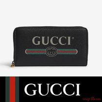 【国内発送】GUCCI 長財布 Logo grained continental wallet