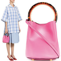 18SS M383 PANNIER BUCKET BAG IN CALF LEATHER