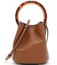 18SS M384 PANNIER BUCKET BAG IN CALF LEATHER