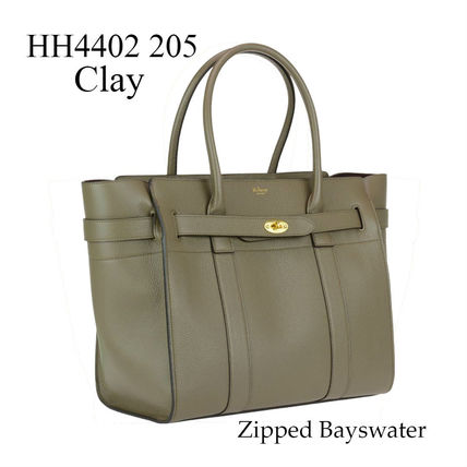 Mulberry トートバッグ Mulberry★Zipped Bayswater HH4402 205 Clay 関税/送料込