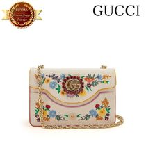 新作★GUCCI グッチFloral-embroidered  bag