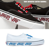 VANS★AUTHENTIC SKETCH SIDEWALL★ロゴ★兼用★22~30cm★2色