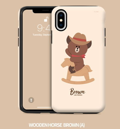 LINE FRIENDS iPhone・スマホケース LINE FRIENDS(ラインフレンズ)  正規品iPhone guard up(2)