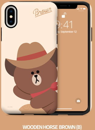 LINE FRIENDS iPhone・スマホケース LINE FRIENDS(ラインフレンズ)  正規品iPhone guard up(3)