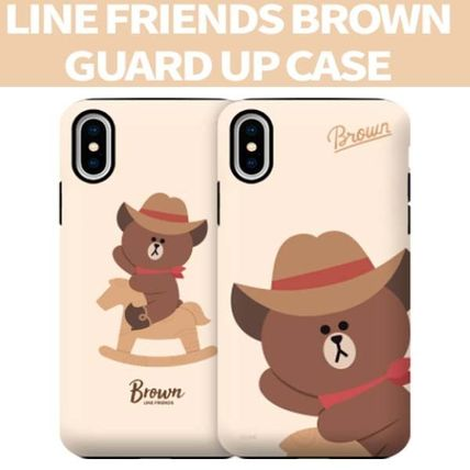 LINE FRIENDS iPhone・スマホケース LINE FRIENDS(ラインフレンズ)  正規品iPhone guard up