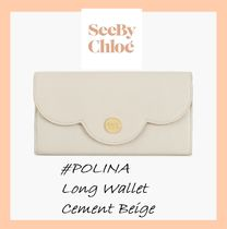 See by Chloe #POLINA#ロングウォレット【Cement Beige】