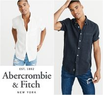 【Abercrombie&Fitch】SHORTSLEEVE BUTTONUP SHIRT リネンシャツ