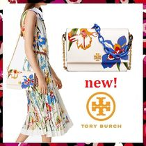 セール 新作 Tory Burch Kira Floral Double Strap Shoulder Bag