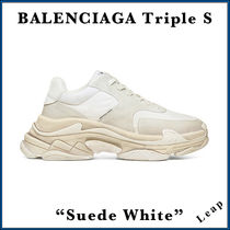 "【BALENCIAGA】入手困難 ☆ Triple S Trainer ""Suede White"""