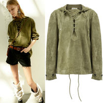 18SS WSL1196 SUEDE LACE UP HOODIE