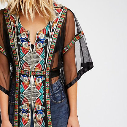Free People ポンチョ・ケープ 【Free People】刺繍カフタンLa Isla Bonita Embroidered Kaftan(2)