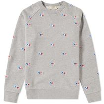 取寄★MAISON KITSUNE 18SS SWEATSHIRT TRICOLOR FOX EMBROIDERY