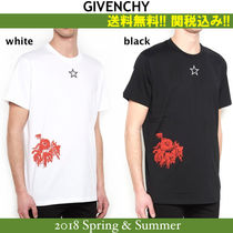2018SS,関税込★GIVENCHY(ジバンシイ)CATHEDRAL & ROSES Tシャツ
