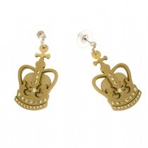 Anna Lou Of LONDON(アナルーオブロンドン) ピアス 納&国内発送◎【Anna Lou OF LONDON】Gold Crown Earring