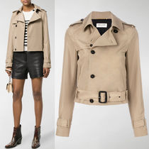 18SS WSL1201 CROPPED SILK TRENCH COAT