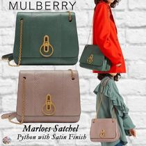 Mulberry☆Marloes Satchel-Python with Satin Finish-パイソン