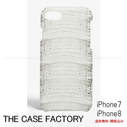 THE CASE FACTORY スマホケース・テックアクセサリー 送料無料☆THE CASE FACTORY*iPhone 7/8ケース*イグアナホワイト