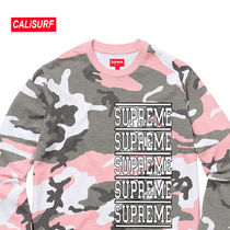 WEEK2★SS18 Supreme Stacked L/S Top/pink Camo/Mサイズ