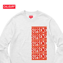 WEEK2★SS18 Supreme Stacked L/S Top/Ash Gray/Mサイズ