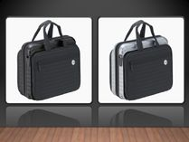 RIMOWA Lufthansa Bolero** laptop bag*ブラック & シルバ-