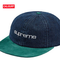 WEEK2★SS18 Supreme(シュプリーム)Denim Suede 6panel cap/Blue