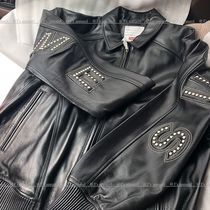 2018SS Supreme Studded Arc Logo Leather Jacket シュプリーム
