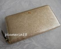 セール!Tory Burch−Crinkle Metallic Zip Continental Wallet