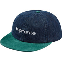 Supreme Denim Suede Compact Logo 6-Panel