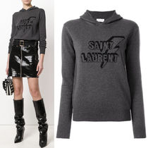 18SS WSL1236 PRINTED COTTON KNIT HOODIE