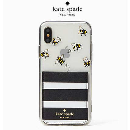 【新作】kate spade iphone x case sticker pocket set