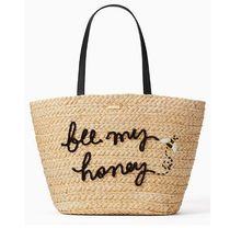 ☆ kate spade ☆ picnic perfect straw bee tote かごバッグ