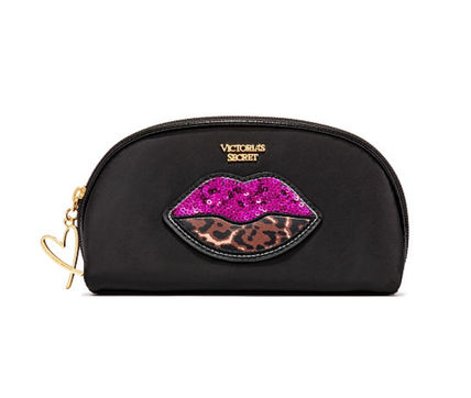 Victoria's Secret メイクポーチ Runway Patch On-The-Go Beauty Bag ヒョウ柄(3)