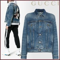 GUCCI(グッチ) Oversized Embroidered Denim Jacket ジャケット