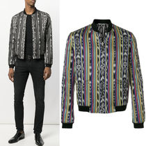 18SS SLP336 IKAT STRIPES REVERSIBLE VARSITY JACKET