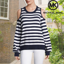 Michael Kors マイケルコース  Stripe Cold-Shoulder ニット