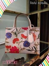 フラワー柄トート!kate spade☆thompson street fabric sam☆
