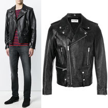 18SS SLP348 CLASSIC MOTORCYCLE JACKET IN GRAINED LEATHER